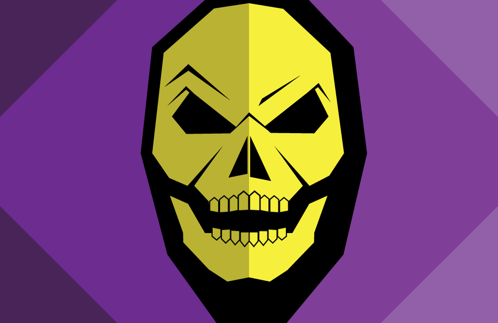 Flat Design 80s Vector art Villains