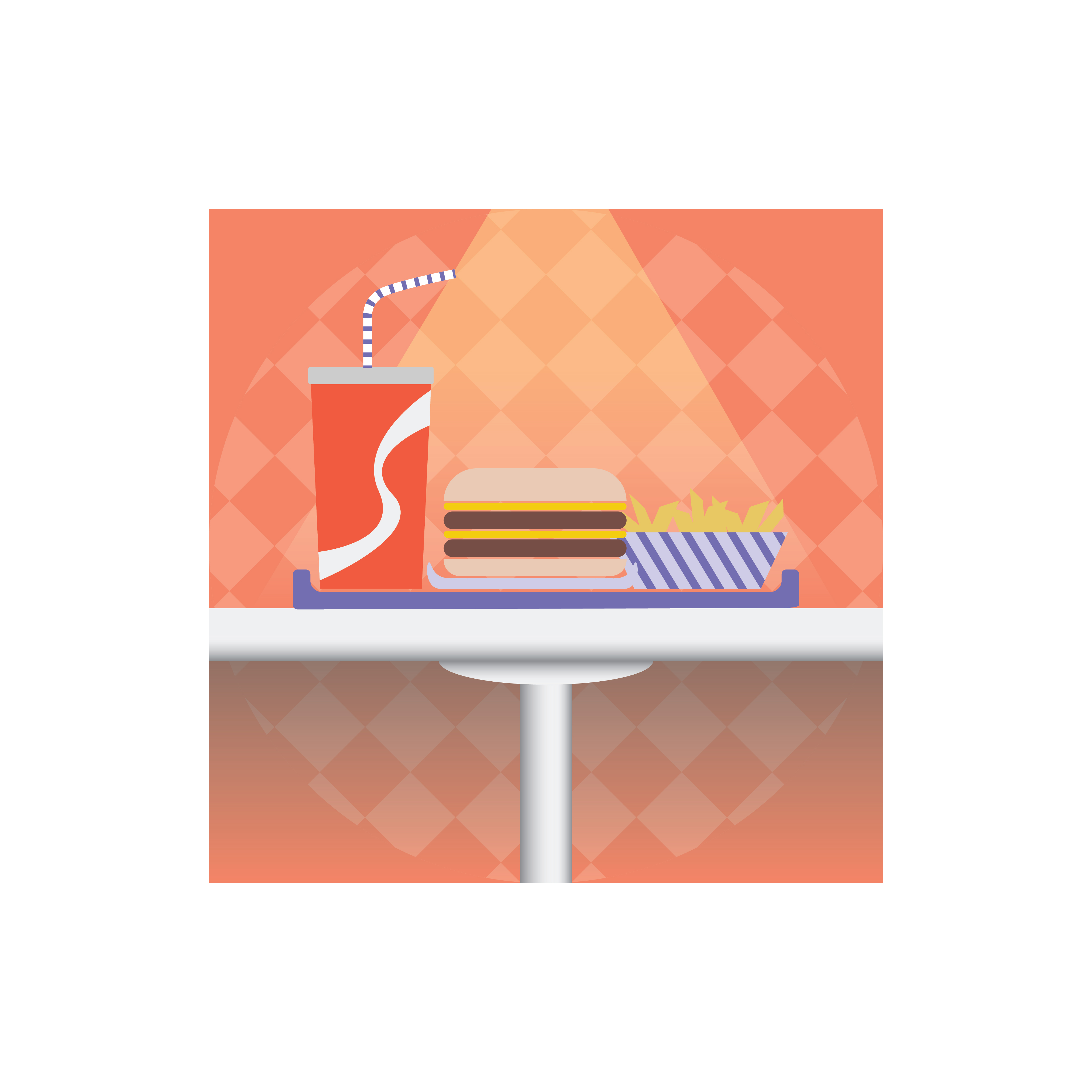 Adobe CC Daily Creative Challenge Illustrator fast food